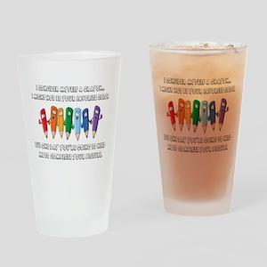 Crayon Drinking Glass