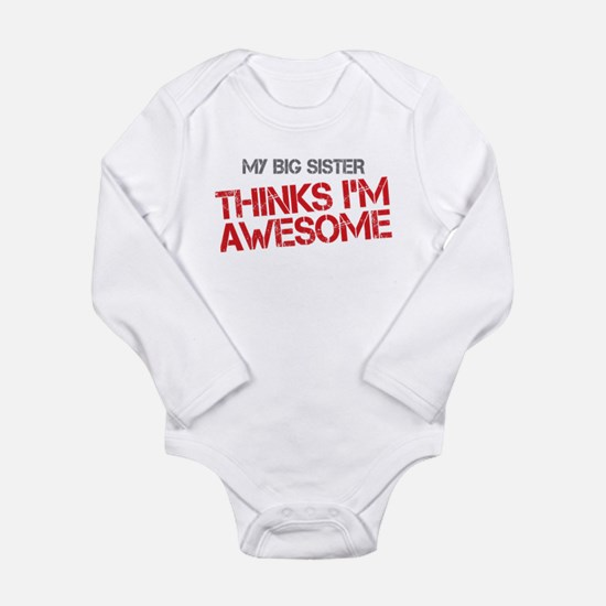Big Sister Awesome Long Sleeve Infant Bodysuit