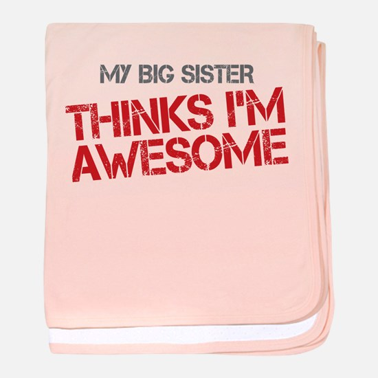Big Sister Awesome baby blanket