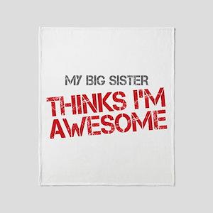 Big Sister Awesome Throw Blanket