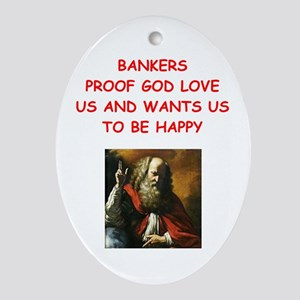 banker Ornament (Oval)