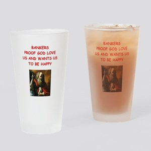 banker Drinking Glass