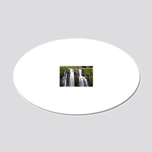 Cades Cove Waterfall 20x12 Oval Wall Decal