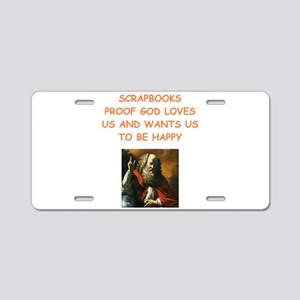 scrapbook Aluminum License Plate