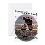 Footprints in the sand Greeting Cards (20 Pack)