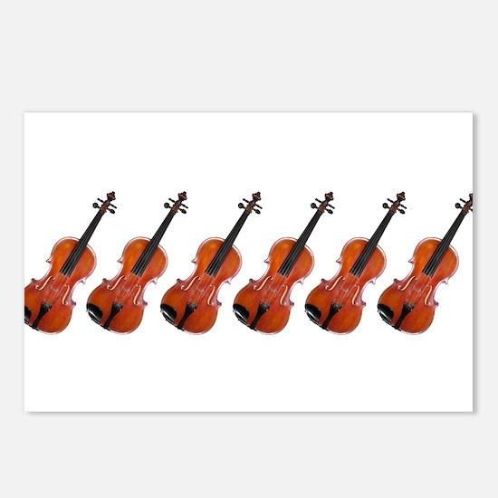 Violins / Violas in a Row Postcards (Package of 8)