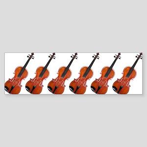 Violins / Violas in a Row Sticker (Bumper)