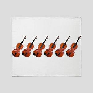 Violins / Violas in a Row Throw Blanket