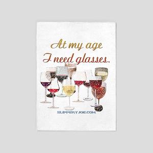 Glasses_6 5'x7'Area Rug