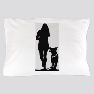 German Shepherd Heel Silhoutte Pillow Case
