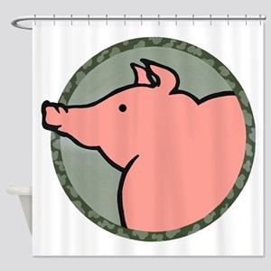 Cute Pig Shower Curtain