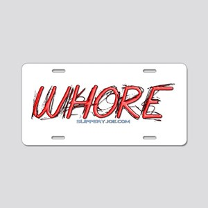 Whore_5 Aluminum License Plate