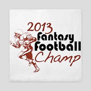 2013 Fantasy Football Champ Queen Duvet