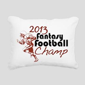 2013 Fantasy Football Champ Rectangular Canvas Pil