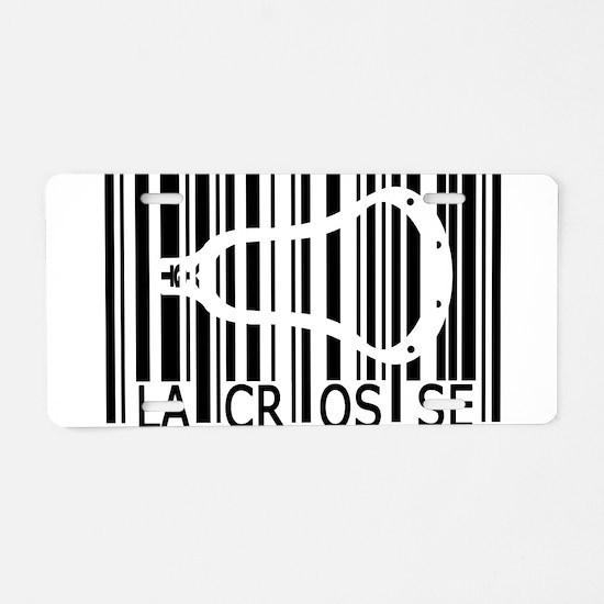 Lacrosse Barcode Aluminum License Plate