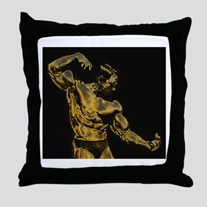 Body Building Throw Pillow