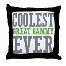 Coolest Great Gammy Ever Throw Pillow