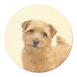 Norfolk Terrier Round Car Magnet