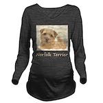 Norfolk Terrier Long Sleeve Maternity T-Shirt