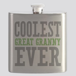 Coolest Great Granny Ever Flask