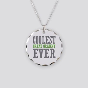 Coolest Great Granny Ever Necklace Circle Charm