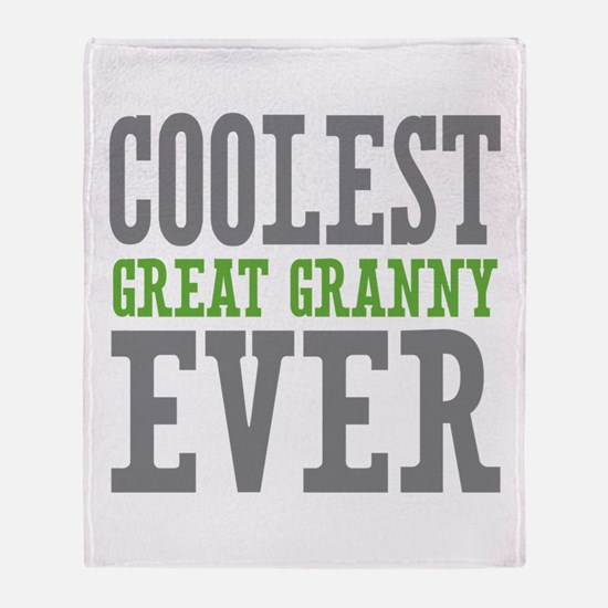 Coolest Great Granny Ever Throw Blanket