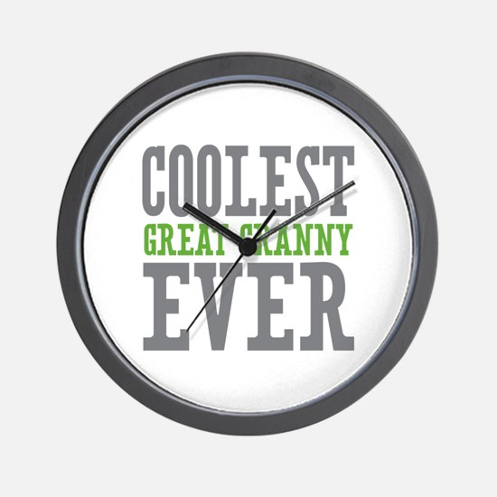 Coolest Great Granny Ever Wall Clock