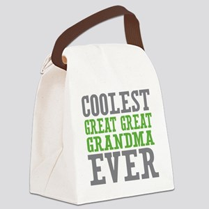 Coolest Great Great Grandma Ever Canvas Lunch Bag