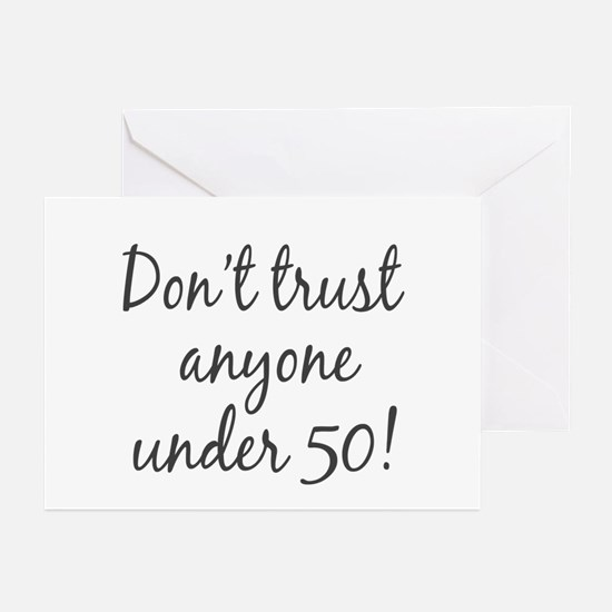 50th birthday trust Greeting Cards (Pk of 10)