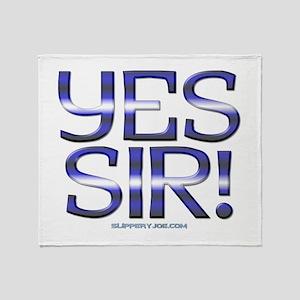 yes_sir_shower Throw Blanket