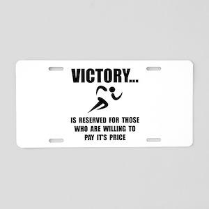 Victory Runner Aluminum License Plate