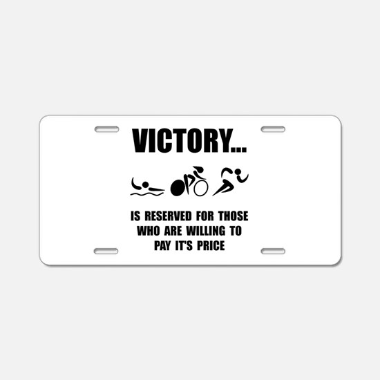Victory Triathlon Aluminum License Plate