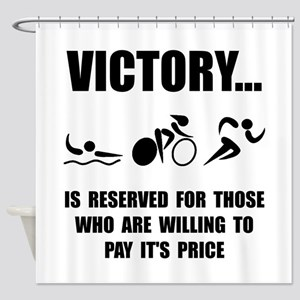 Victory Triathlon Shower Curtain