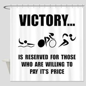 Victory Triathlon Shower Curtain
