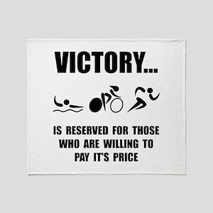 Victory Triathlon Throw Blanket