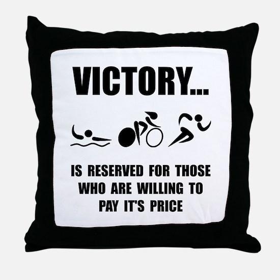 Victory Triathlon Throw Pillow