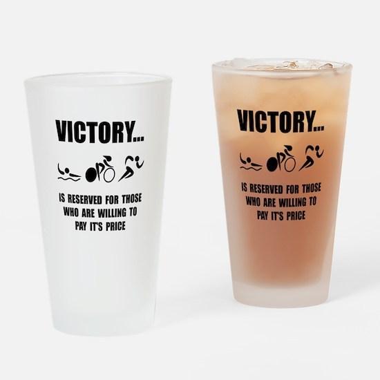 Victory Triathlon Drinking Glass