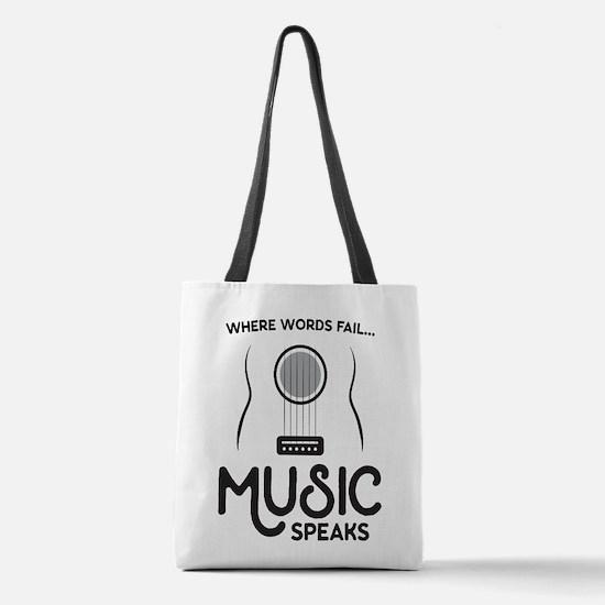 Music Speaks Polyester Tote Bag