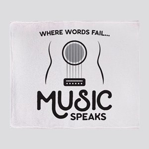 Music Speaks Throw Blanket