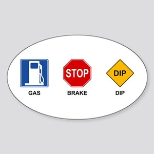Gas Brake Dip II Oval Sticker