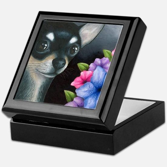 Dog 80 black Chihuahua Keepsake Box