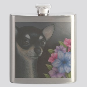 Dog 80 black Chihuahua Flask