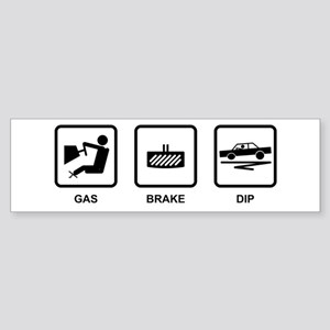 Gas Brake Dip Bumper Sticker