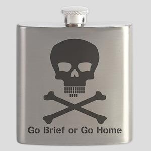 Go Brief Front Black Flask