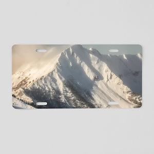 Ancient Snow Giant Aluminum License Plate