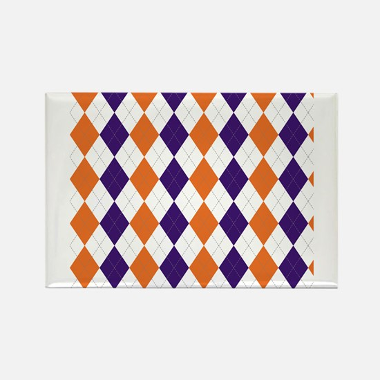 Clemson Argyle Sock Pattern South Carolina Magnets