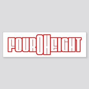 FourOhEight (408) Bumper Sticker