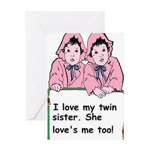 Twin sister greeting cards cafepress m4hsunfo