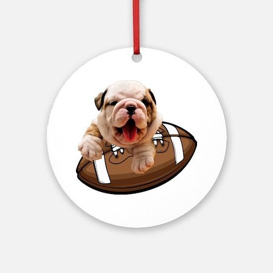 Cute Bulldogs Round Ornament