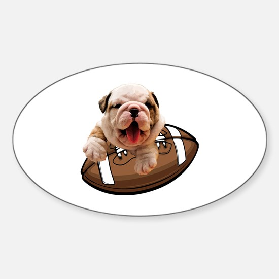 Cute Bulldogs Sticker (Oval)